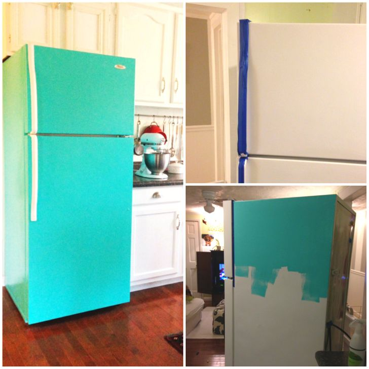 Repainting the fridge